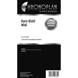 Blätter Karo für Organizer Midi 96x172mm weiß Chronoplan 50330 (PACK=25 BLATT) Produktbild